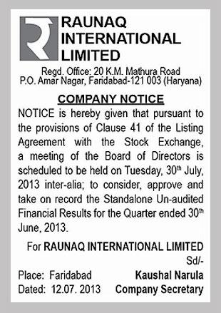 Raunaq International